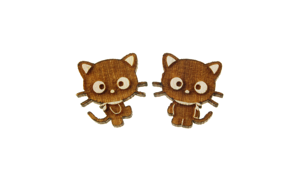 Chococat® Body Earrings in Birch Wood
