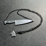 NEW!!! XL Chef's Knife Floater Necklace