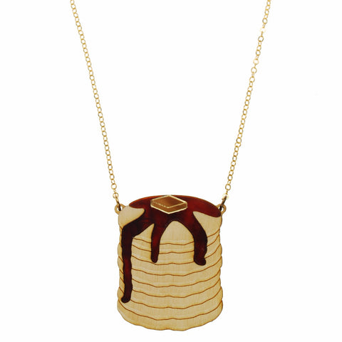 Pancake Stack Necklace