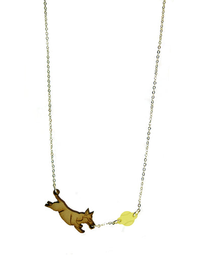 Corgi and Ball Necklace
