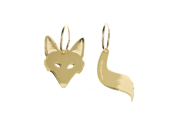 Fox & Tail Endless Hoops in Mirror Gold