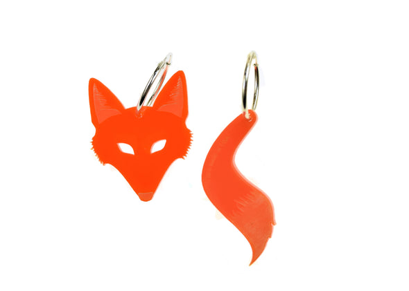 Fox & Tail Hoops in Orange