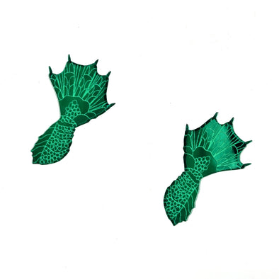 Swamp Monster Hand Earrings
