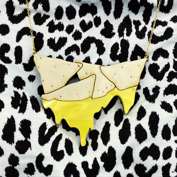 Chips and Queso- Pearl Yellow- Necklace