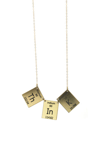 Think Elements Necklace in Gold/Black