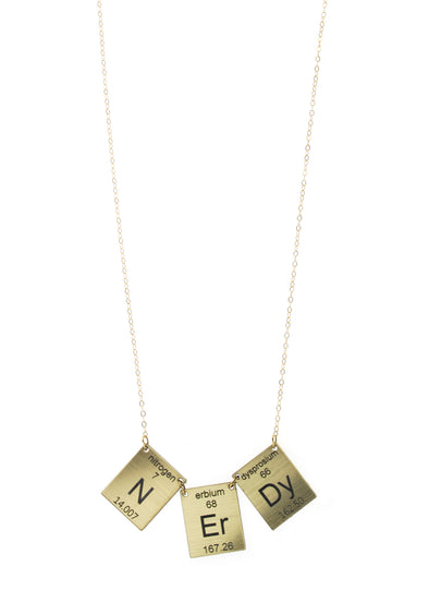 Nerdy Elements necklace in Gold/Black