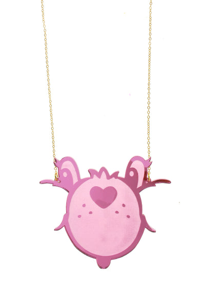 Care Bears™ Pink Face Necklace ~ FINAL SALE