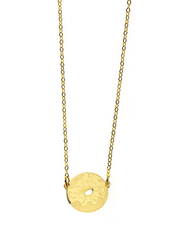 Donut Necklace in Mirror Gold