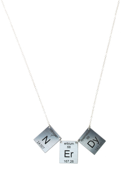 Nerdy Elements necklace in Silver/Black