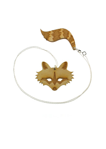 Raccoon & Tail Necklace