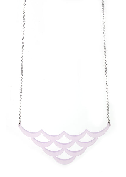 Mermaid Scales Necklace in Rose Quartz