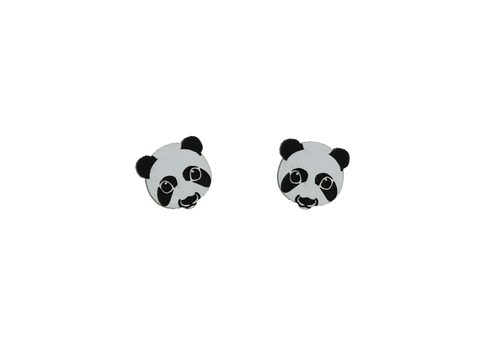 Panda Heads in Black/White