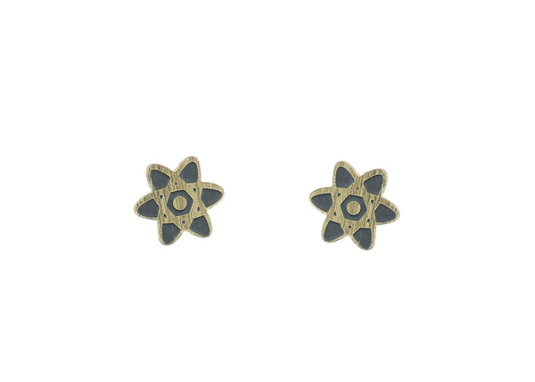 Atom Earrings in Gold/Black