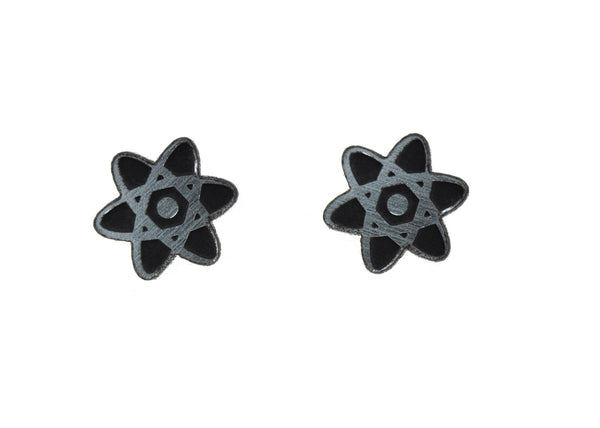 Atom Earrings in Silver/Black