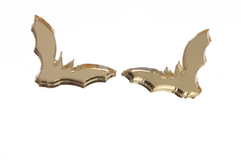 Bat Earrings in Mirror Gold