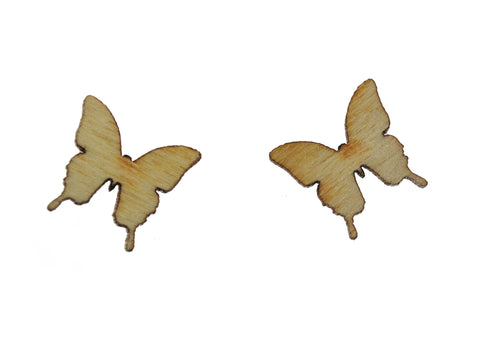Butterfly Earrings in Birch Wood