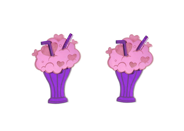 XL Care Bears™ Share Bear Milkshake Earrings