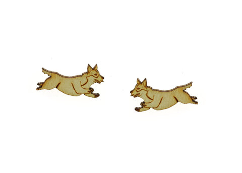 Flying Corgie Earrings