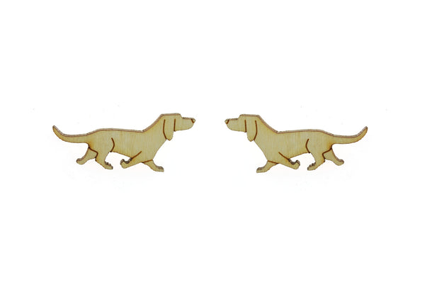Trotting Dachshund Earrings