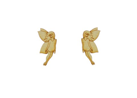 Fairy Earrings in Birch Wood