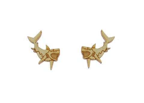 Great White Shark Earrings