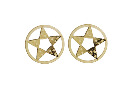 Pizzagram (Pentagram Pizza) Earrings