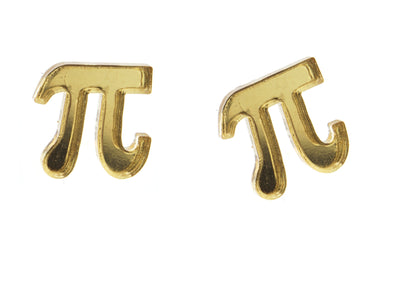 Pi Earrings in Mirror Gold