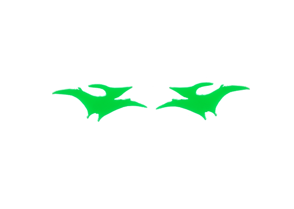 Pterodactyl earrings in Neon Green