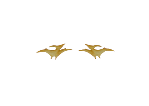 Pterodactyl earrings in Birch Wood
