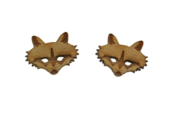 Raccoon Head Earrings