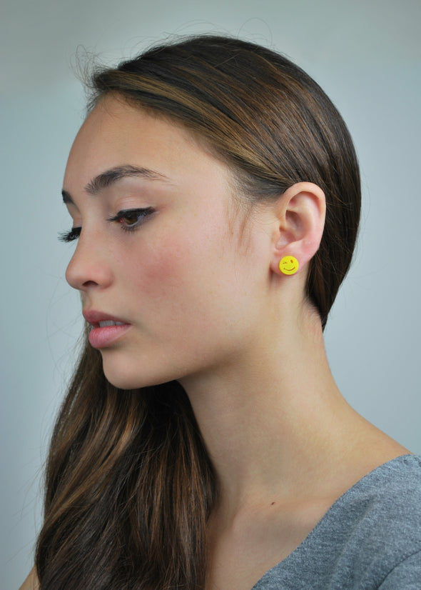 Wink and a Smile Earrings in Yellow