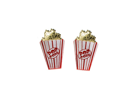 Shiny XL Popcorn Earrings