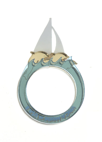 Sailing with Dolphins Ring