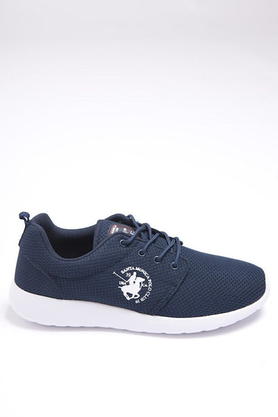 Santa Monica Polo Club Diver Run Logo Trainers Navy Blue