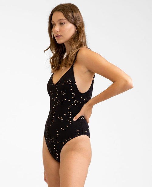 IVY HI-CUT ONE PIECE - BLACK