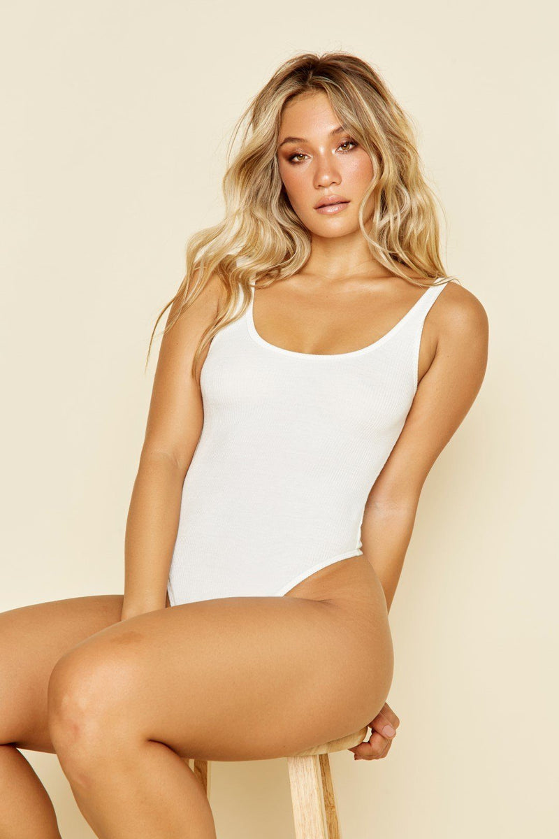 D1856 ESSENTIAL BODYSUIT - WHITE