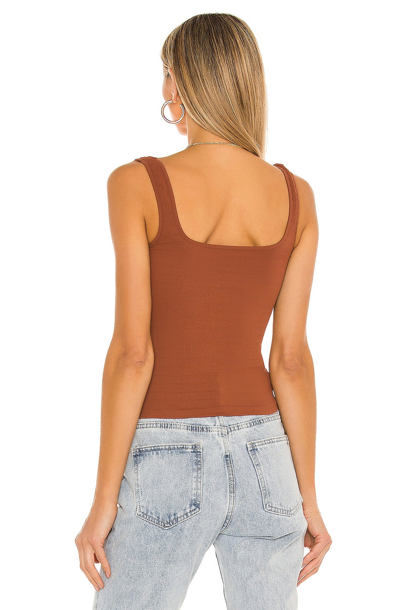SQUARE ONE SEAMLESS CAMI - ICED CHAI 4894