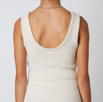 NOTCHED SWEATER TANK NS-388