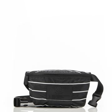 ALOHA MINI HIP PACK /  PINSTRIPE WHITE ON BLACK