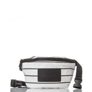 ALOHA MINI HIP PACK /  PINSTRIPE BLACK ON WHITE