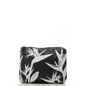 ALOHA SMALL /  PINSTRIPE BIRDS IN PARADISE BLACK