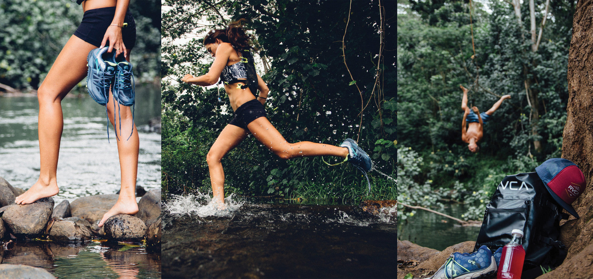 adventure running shoes hike waterfalls Chelsea Yamase