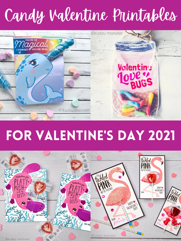 Candy Valentine Printables for Valentine's Day 2021