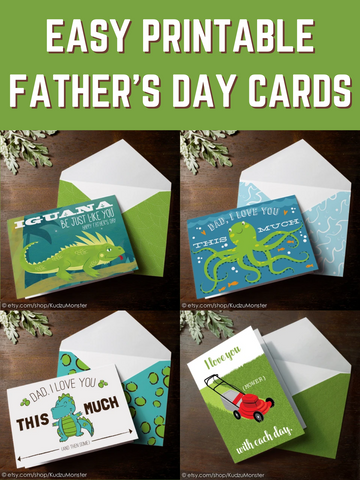 Easy Printable Father's Day Cards