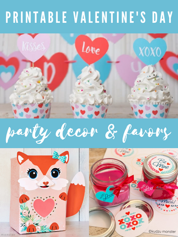 Printable Valentine's Day Party Decor and Favors