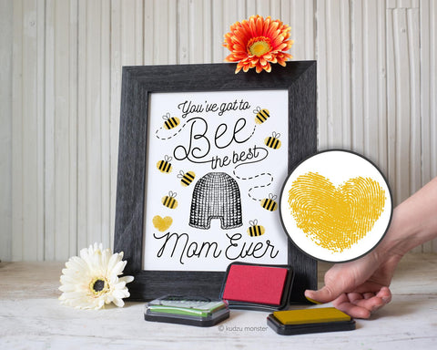 Printable framable mother's day bee art project