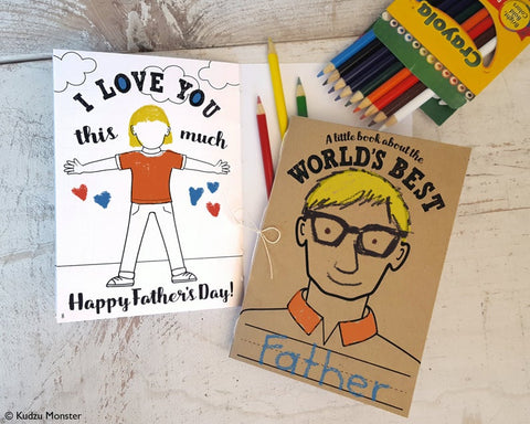 Printable world's best dad coloring activity book