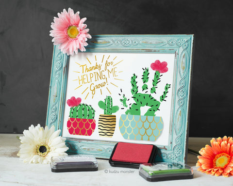 Printable mother's day succulent art project