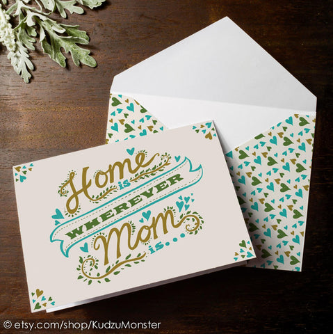 Home is wherever Mom is mother's day card