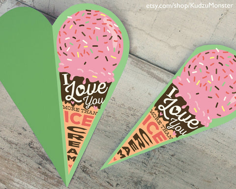 Printable ice cream father's day card
